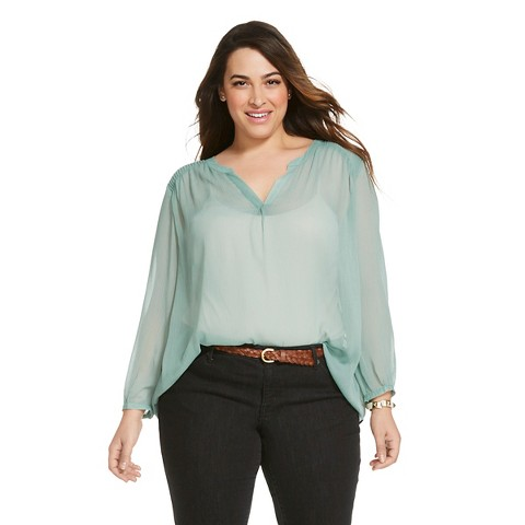 Women'S Plus Size Long Sleeve Blouse 12