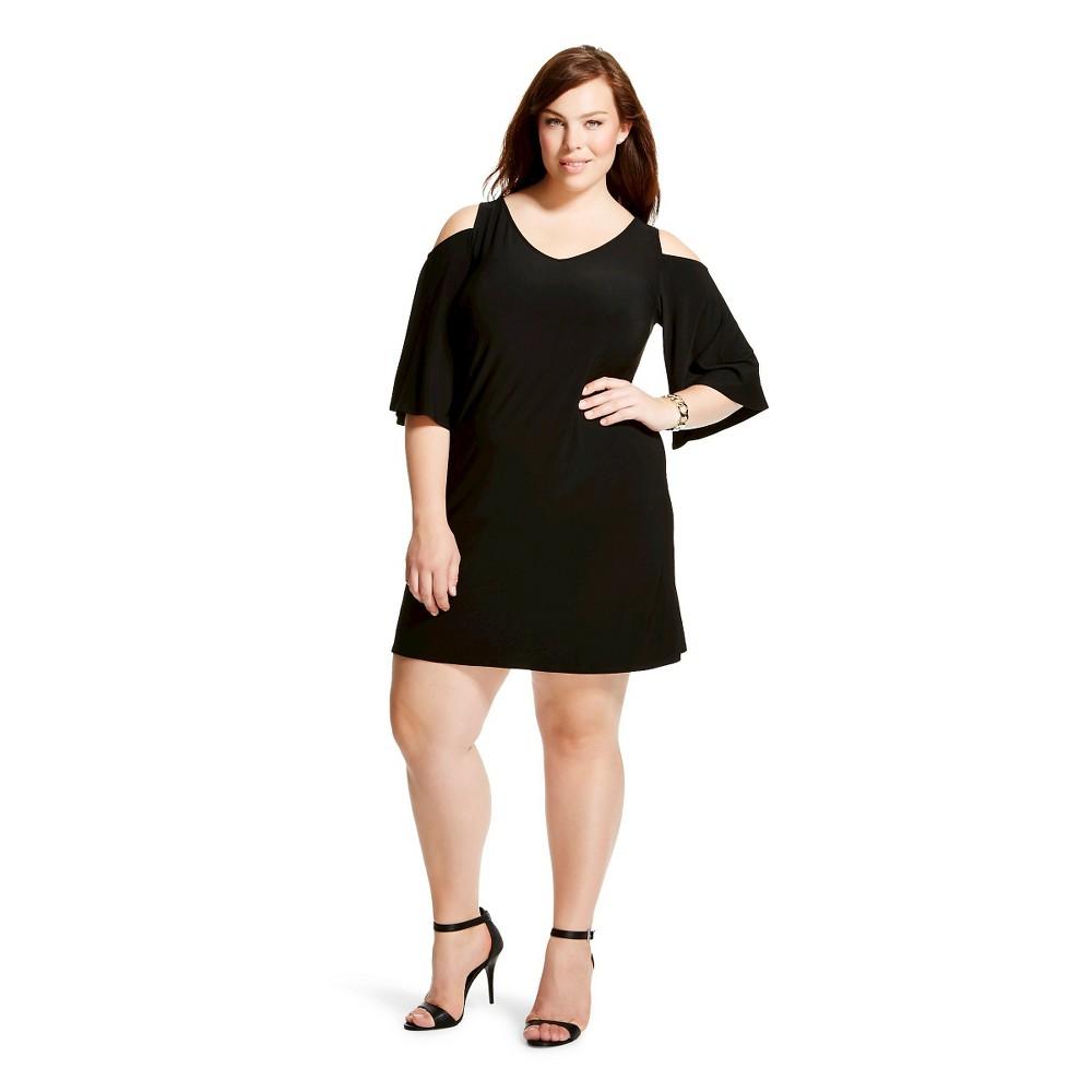 Women's Plus Size Cold Shoulder Shift Dress-Chiasso