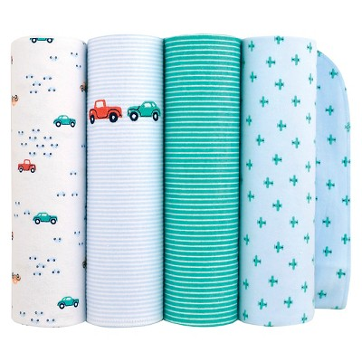 Just One You™ Made by Carter's® 4 Pack Cars Flannel Blanket - Blue