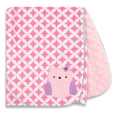 Just One You™ Made by Carter's® Owl Valboa Blanket with Satin Piping - Purple