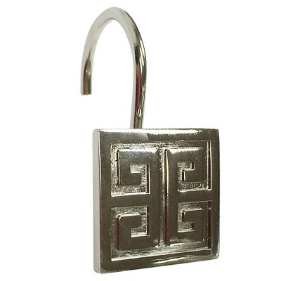 Greek Key Shower Hook Brushed Nickel - Threshold™