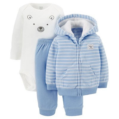 Just One You™ Made by Carter's® Boys' Top and Bottom Sets Baby Blue Newborn
