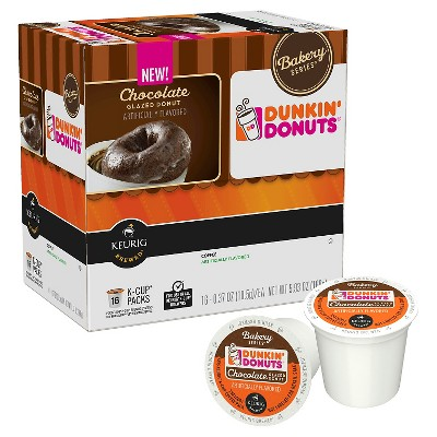 Dunkin' Donuts Chocolate Glazed Donut Coffee K-Cup pods 16 ct