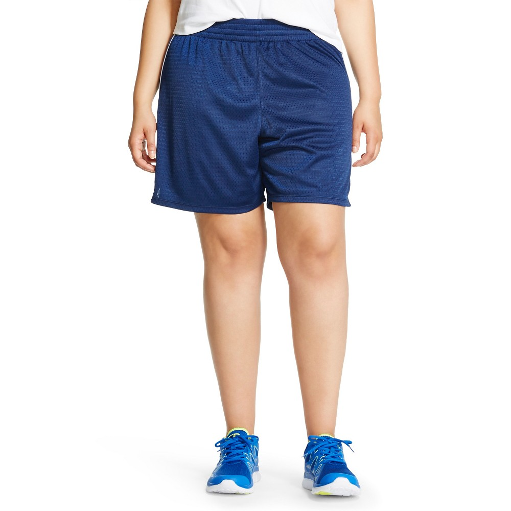 Plus Size C9 Champion Women's Plus Lacrosse Short Dark Night Blue