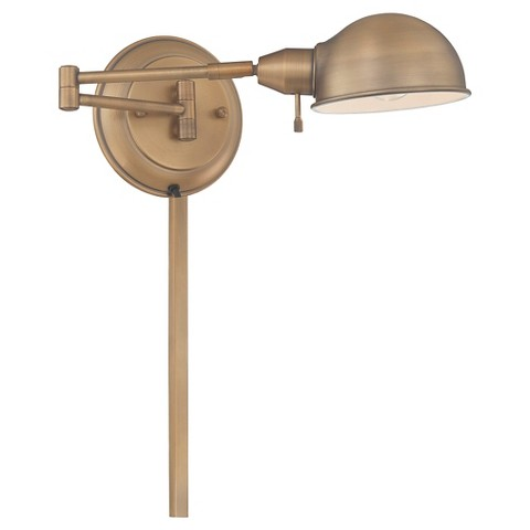 Rizzo 1 Light Swing Arm Wall Lamp - Antique Brass : Target