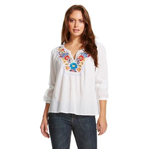 White Silk Blouse Target 41