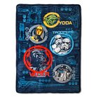 "Star Wars Classic Characters Bed Blanket - Blue/Black (60x80"")"