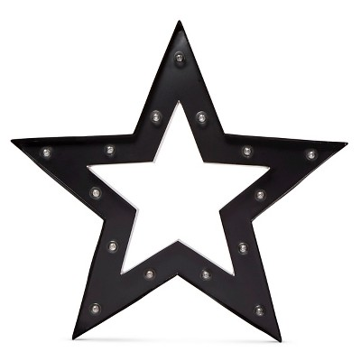Metal Marquee Large - Framed Star - Ebony/Brass - Threshold™