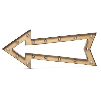 Metal Marquee Large - Outline Arrow - Brass/Ebony - Threshold™