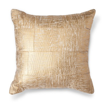 Threshold™ Gold Cross-Hatch Pillow 18""