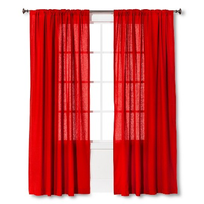 Threshold™ Curtain Panel Linen-Look - Red (54x84)