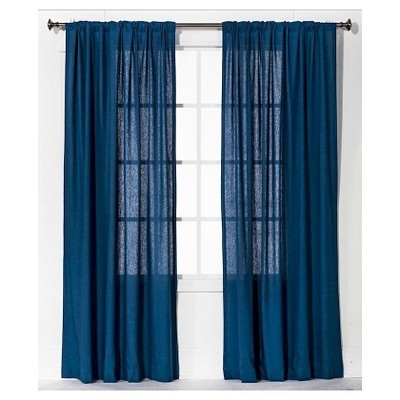 Threshold™ Curtain Panel Linen-Look - Blue (54x84)