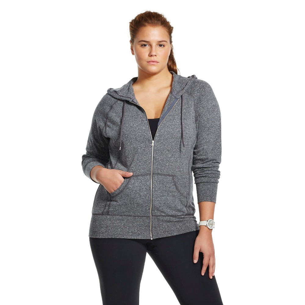 C9 Champion Women's Plus Size Active Hoodie Dark Grey 1X, Dark Gray