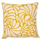 "Jaipur En Casa by Luli Sanchez Pillows Handmade Cotton Pillow - Yellow/Ivory (18""x18"")"