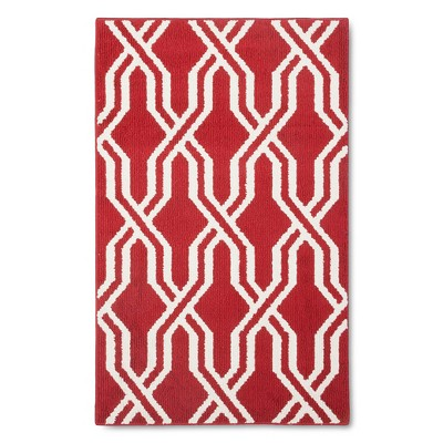 """Threshold™ Lattice Accent Rug - Red (2'6""""x4')"""