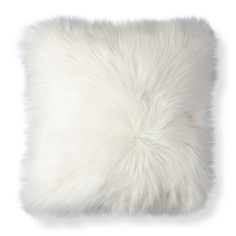 Threshold Long Fur Decorative Pillow : Threshold White Fur Decorative Pillow : Target