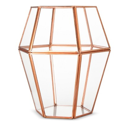 Threshold™ Copper Faceted Lantern - Large