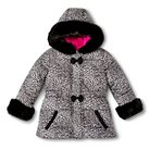 Toddler Girls' Leopard Print Puffer Jacket - White 2T