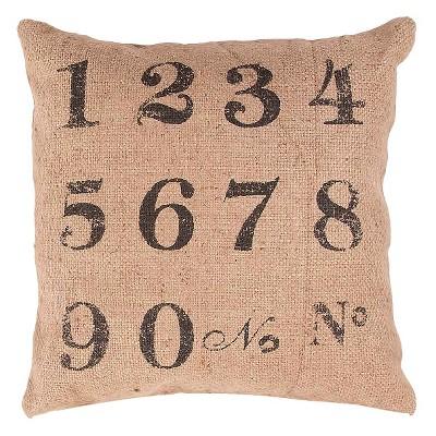 "Jaipur Rustique Pillows Handmade Jute Pillow - Taupe Brown/Black (20""x20"")"