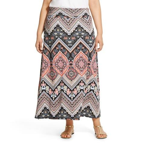 s plus size foldover knit maxi skirt paisl target