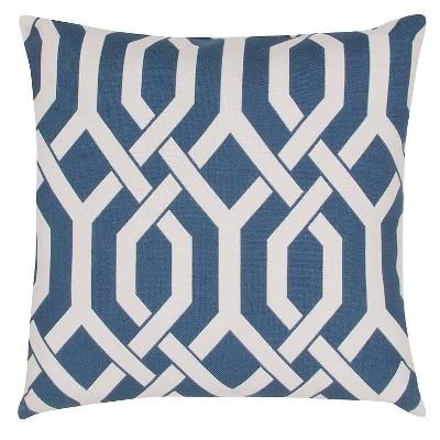 Ecom Decorative Pillow Jaipur Blue White