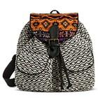 Street Level Women's Tribal Print Backpack - Black