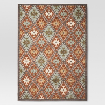 Threshold™ Sedona Tile Area Rug - Terracotta (7'x10')