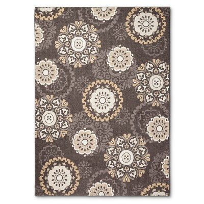 Threshold™ Medallion Area Rug - Brown (7'x10')