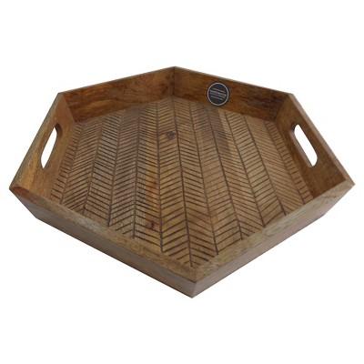 Threshold™Burned Wood Tray