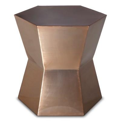Threshold Copper Hexagon Accent Table