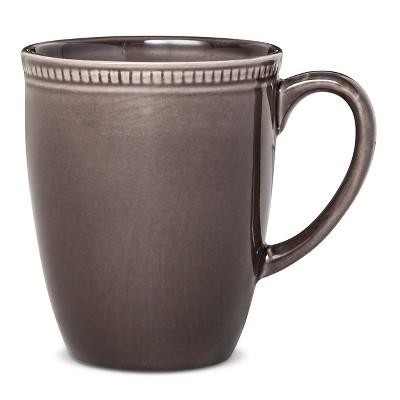 Camden Round Mug Dark Gray Set of 4 - Threshold™