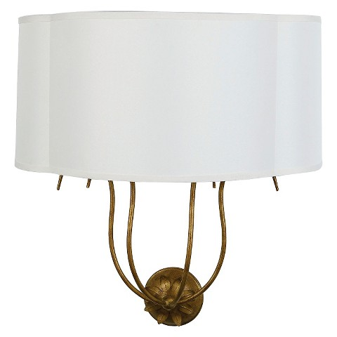 Iron Wall Sconce with Fabric Shade : Target