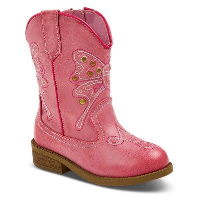 Toddler Girls' Darcy Cowboy Boots Pink 5 - Cherokee®