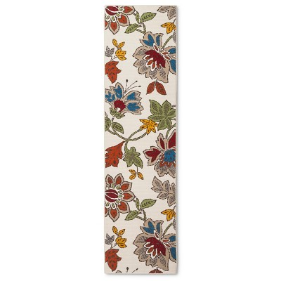 "Threshold™ Floral Runner - Terracotta (1'10""x7')"