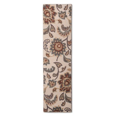 "Maples Paisley Floral Runner - Tan (1'10""x7')"