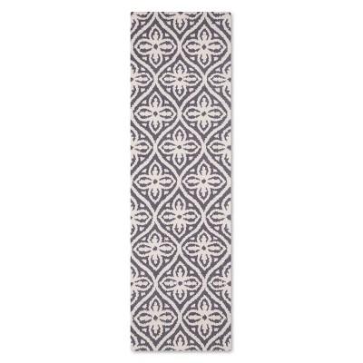 Colfax Floral Tile Fleece Runner Gray - Threshold™