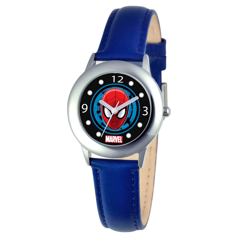 Boys' Marvel Spider-Man Stainless Steel Watch - Blue, Boy's