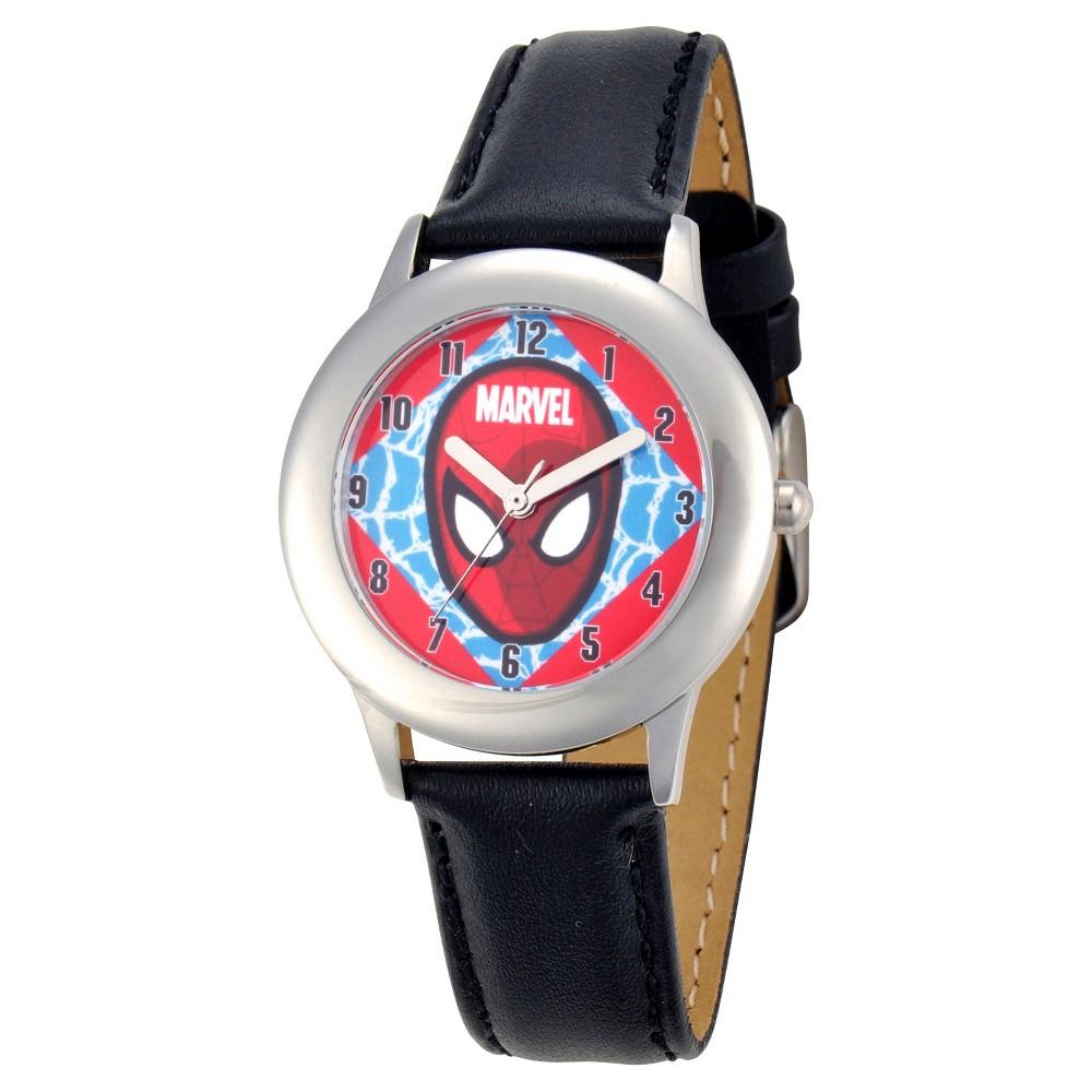 Boys' Marvel Spider-Man Stainless Steel Watch - Black, Boy's