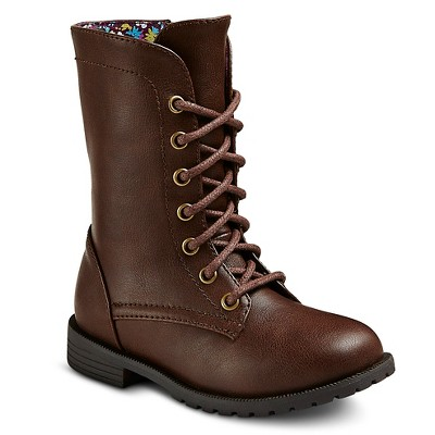 Toddler Girls' Cherokee Davianna Fashion Boots - Brown 6