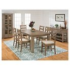 Slater Mill Rectangle Dining Table with Extension Leaf Wood/Reclaimed Pine - Jofran Inc.