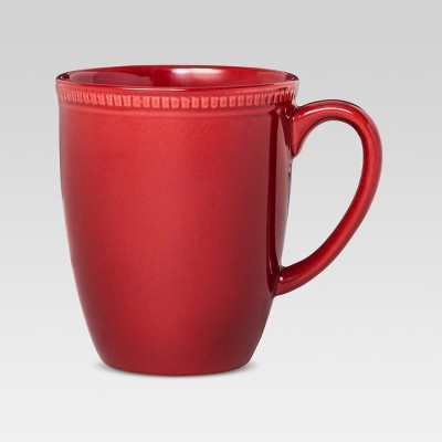 Camden Round Mug Red Set of 4 - Threshold™