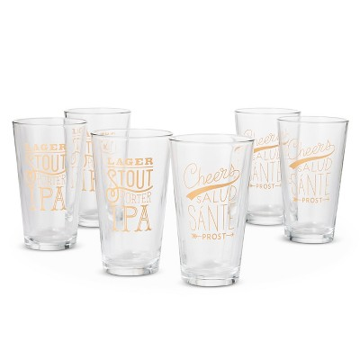 Threshold™ Beer Pint Decal 6-pc. Glass Set