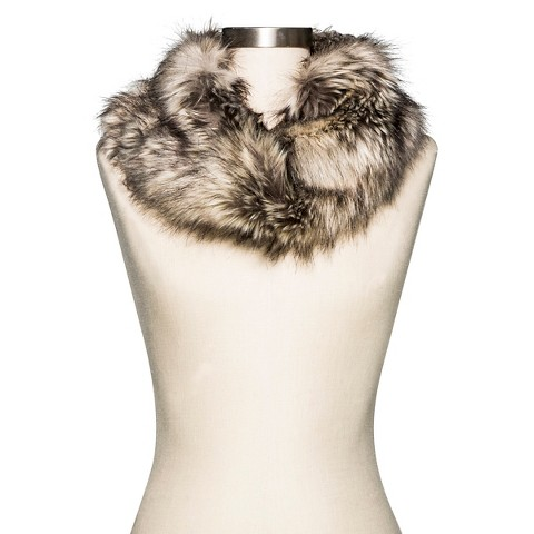 Cold Weather Faux Fur Scarf Brown - Merona™
