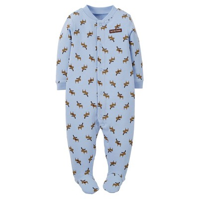 Just One You™ Made by Carter's® Boys' Footed Sleepers Ballad Blue 6M