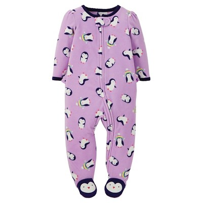 Just One You™ Made by Carter's® Female Footed Sleepers Airy Purple NB