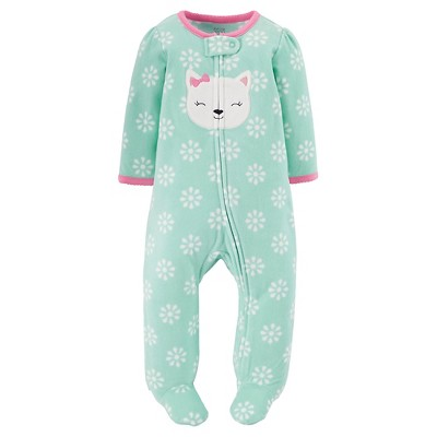 Just One You™ Made by Carter's® Female Footed Sleepers Oolong Tea Green 9M