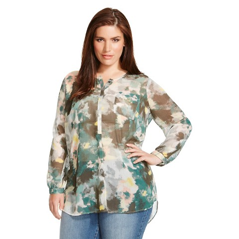 Women'S Plus Size Long Sleeve Blouse 115
