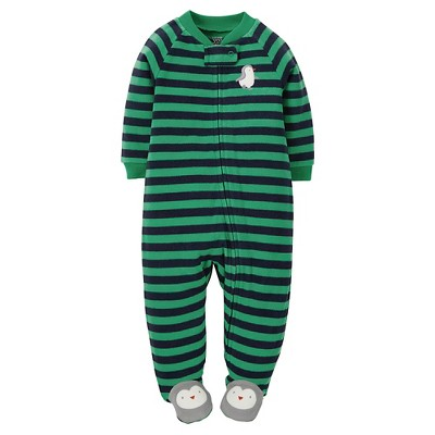 Just One You™ Made by Carter's® Boys' Footed Sleepers Grass Blade Green NB
