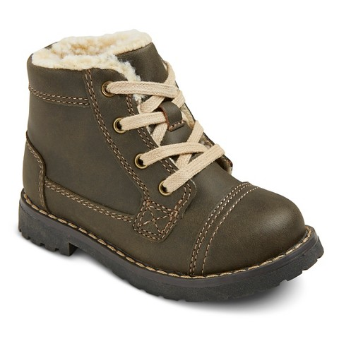 toddler boys ollie boots brown target