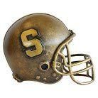 Stanford Cardinals Wild Sports Mini Bronze Helmet Statue
